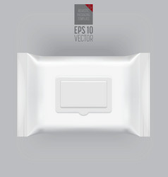 Blank packaging template mockup isolated on grey vector