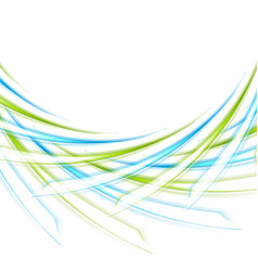 blue and green curved shapes abstract background vector image