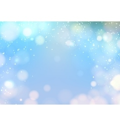Blue bokeh light vector image