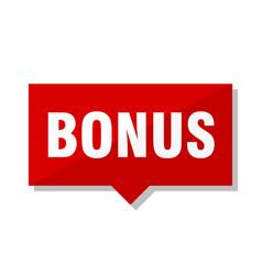 Bonus red tag vector