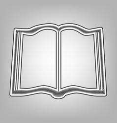 book sign pencil sketch imitation dark vector image