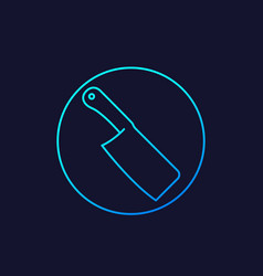 butcher cleaver linear icon vector image