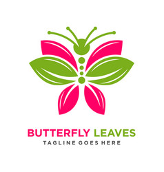 butterfly leaf logo vector image