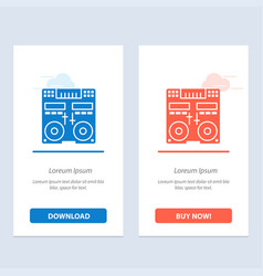 Cd console deck mixer music blue and red download vector