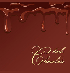 chocolate splash dark chocolate design isolated vector image