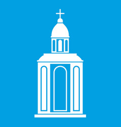 church icon white vector image