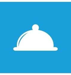 Cloche icon white vector image