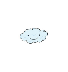 cloud icon cartoon vector image