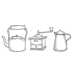 coffee maker or grinder vector image