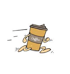 coffee to go cartoon character vector image