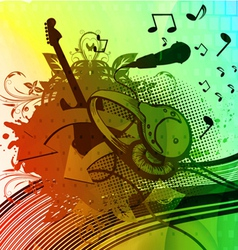 Colorful grunge concert poster vector