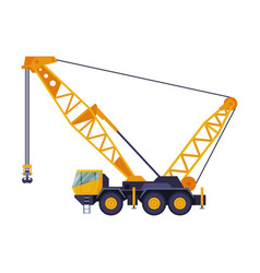 construction hydraulic crane truck heavy cargo vector image