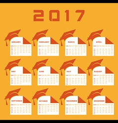 Creative New Year calender for 2017 vector image