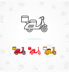 delivery food icon vector image