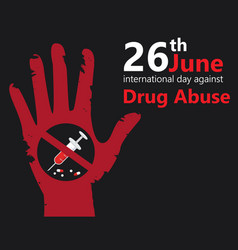 Drug abuse hand vector