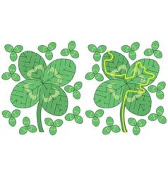 Easy four leaf clover maze vector