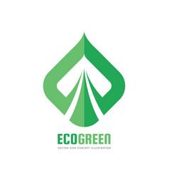 eco green - logo template concept vector image