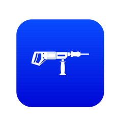 electric drill perforator icon digital blue vector image