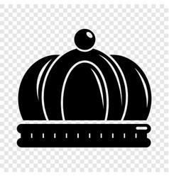 Empire crown icon simple black style vector
