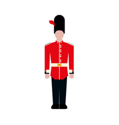 england classic soldier vector image