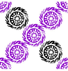 Ethnic tribal native circle mandala hand drawn vector