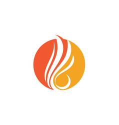 Fire flame logo template vector