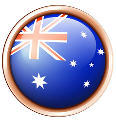 Flag of australia in round frame vector