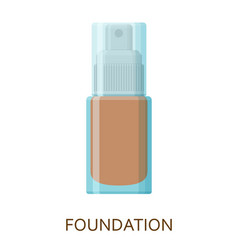 foundation make up background cosmetic icons vector image