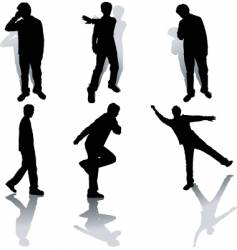funky people vector image