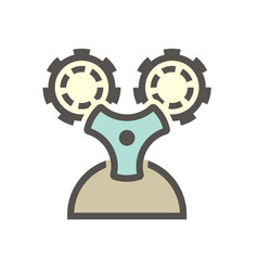 Gas cylinder and pressure gauge or manometer icon vector