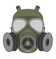 gas mask flat style vector image