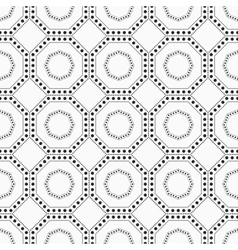 Geometric seamless pattern with dots vector