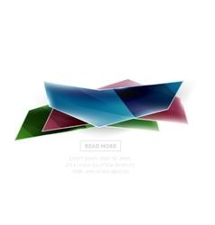 Geometric shape ad promo banner vector