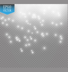 glow light effect cloud of glittering dust vector image