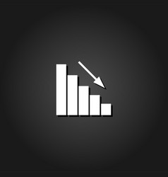 graph down icon flat vector image