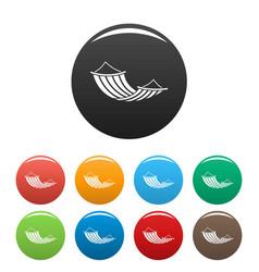 hammock icons set color vector image