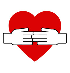 Hand on heart icon vector