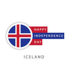 Happy iceland independence day template design vector