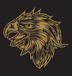 Head eagle vintage logo usa america vector