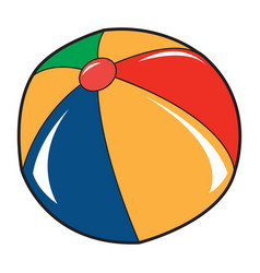 isolated beach ball vector image