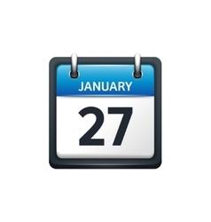 January 27 Calendar icon flat vector