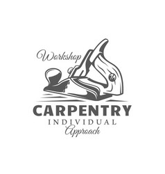 jointer modern carpentry label vector image