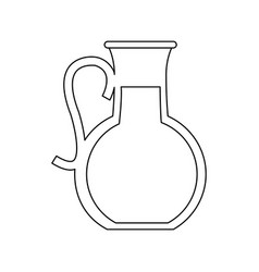 jug with beverage icon image vector image