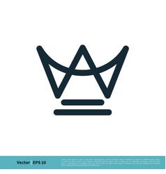 Letter w crown shape icon logo template design vector