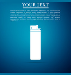 lighter icon isolated on blue background vector image