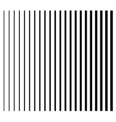 Lines from thin to thick set of 22 straight vector