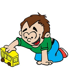 Little boy playing vector