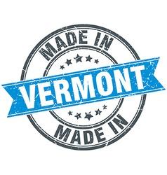 Made in vermont blue round vintage stamp vector