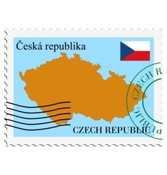 mail to-from Czech Republic vector image