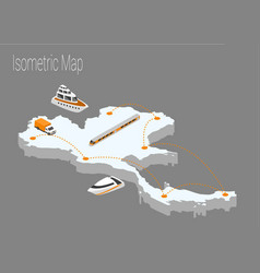 Map thailand isometric concept vector